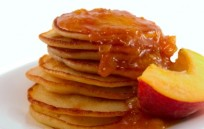ChilesPeach-pancake-breakfast-peaches-666x300-395x250